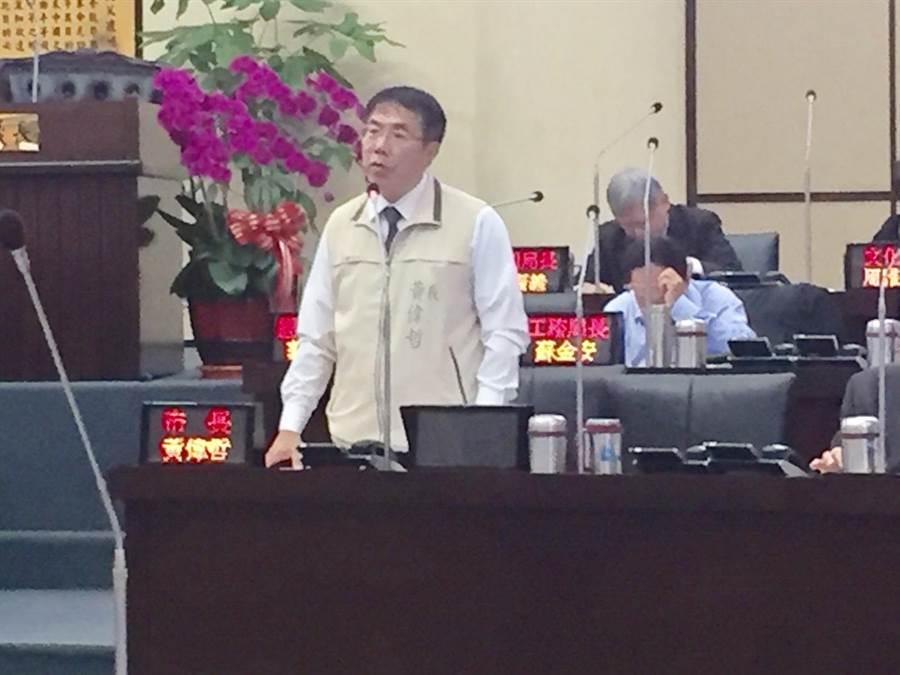 台南市長黃偉哲證實李月娥將到南美館,除予以尊重也認為是美事一樁。(曹婷婷攝)