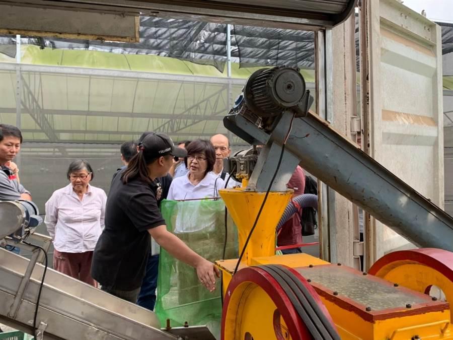 國立虎科技大學動力機械系教授林世章團隊研究出快速加工技術,不必經過發酵,透過烘乾方式就地將禽畜糞乾燥成有機肥。(許素惠攝)