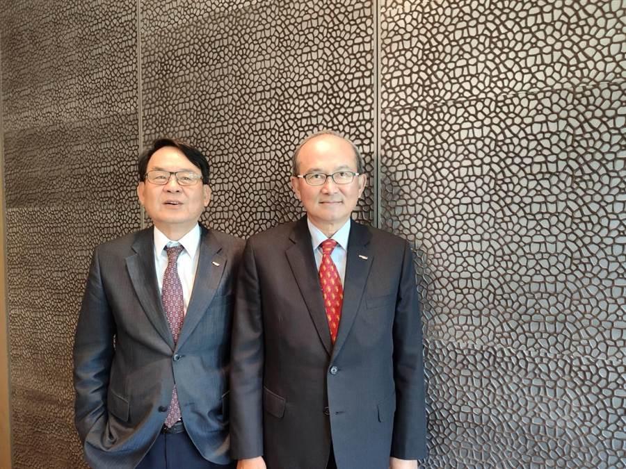 中菲行執行長林天送(左)與總裁邱鈞榮(右)。(黃琮淵攝)