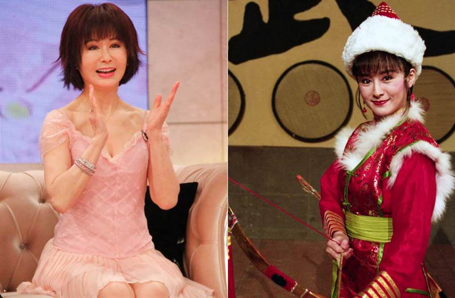 潘迎紫本人數十年不老,左圖拍攝時她已67歲,根本現實中的妖精。(中時資料照片)