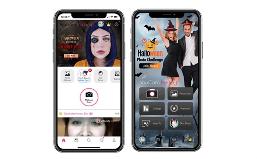 訊連科技轉投資子公司「玩美移動」旗下「玩美彩妝」與「玩美相機」App,推出備受期待的萬聖節主題系列AR彩妝與主題照片內容包。(業者提供/黃慧雯台北傳真)