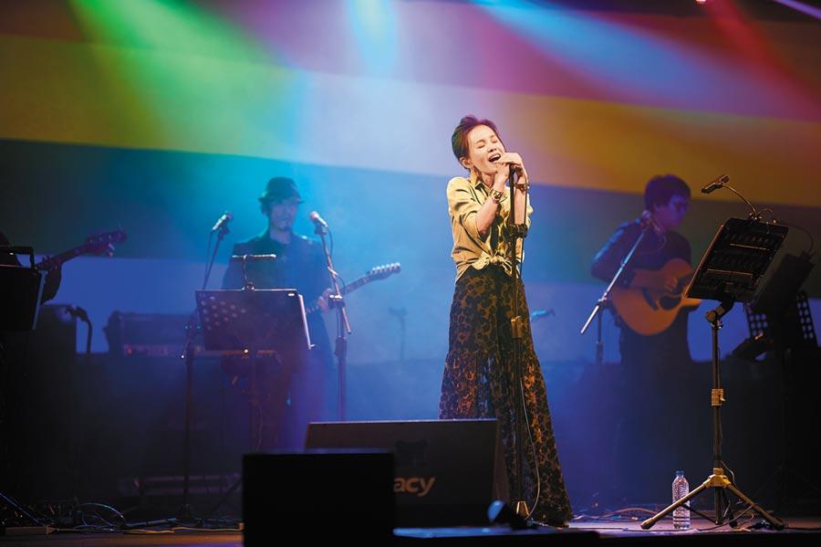 彭佳慧26日在華山Legacy開唱。(索尼音樂提供)