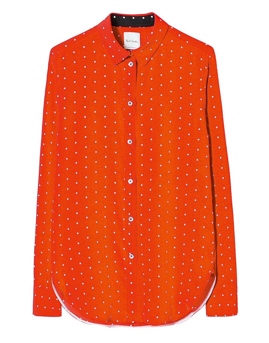 Paul Smith紅色圓點女裝襯衫,2萬3800元。(Paul Smith提供)