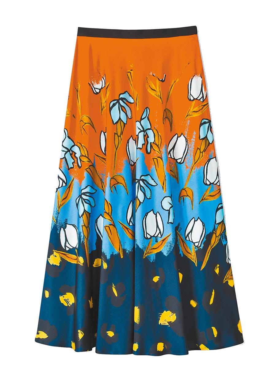Paul Smith漸層印花裙3萬6300元。(Paul Smith提供)