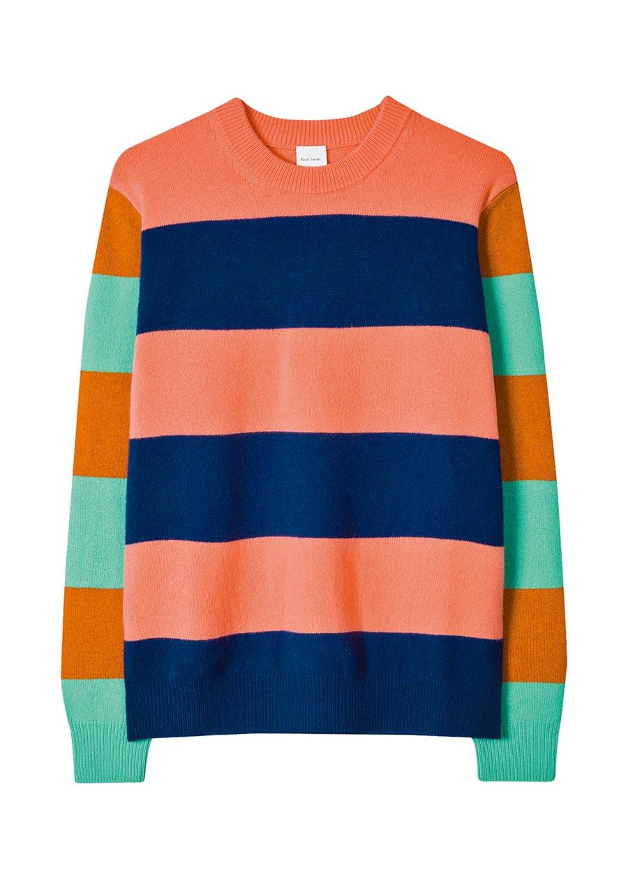 Paul Smith彩色條紋毛衣,1萬5300元。(Paul Smith提供)