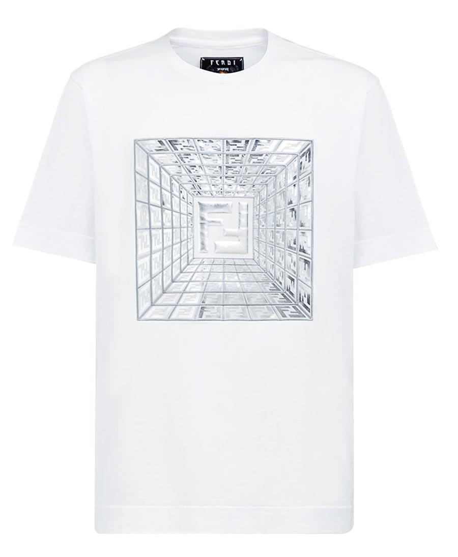 FENDI Prints On男白色短袖T恤,2萬4500元。(FENDI提供)