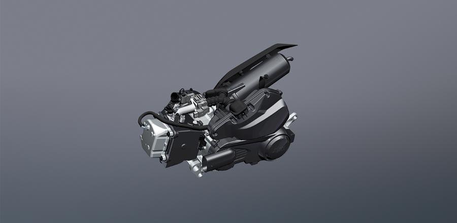 SYM活力125 ABS採用日本京濱噴射系統,具54.3km/L同級最省油耗表現。(SYM提供)