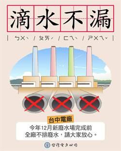 台電宣布:台中電廠12月前放流水不外排