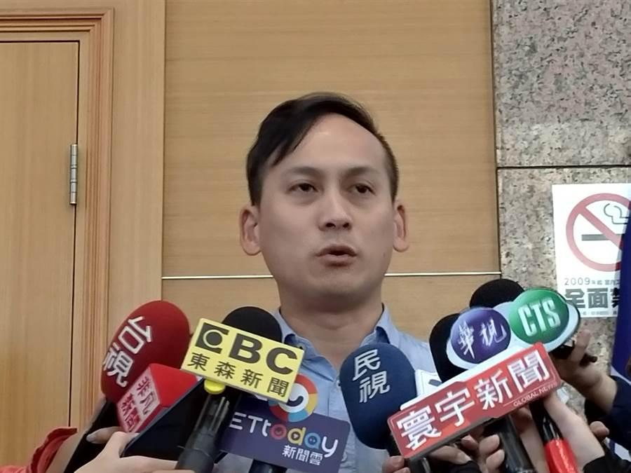國瑜競選總部發言人葉元之。(黃福其/攝)