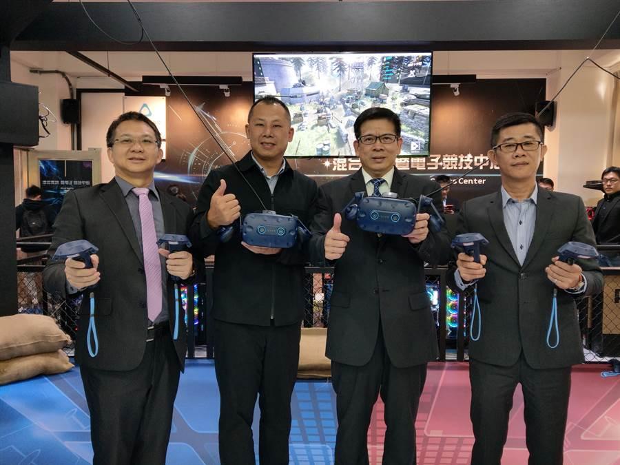 HTC(宏達電)與國立金門大學共同打造混合實境暨電子競技場域。(HTC提供/黃慧雯台北傳真)