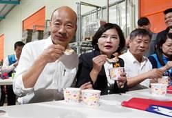 品嘗越光米滷肉飯 韓國瑜:請大家用選票改變未來