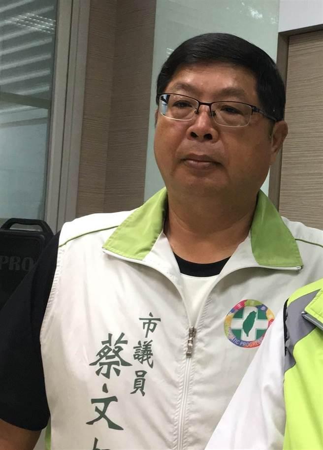 嘉義市議員蔡文旭涉及快取寶案,一審獲判無罪。(廖素慧攝)