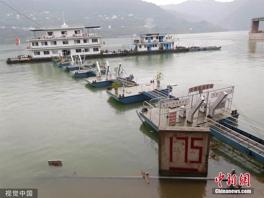 三峽水庫完成2019年175米試驗性蓄水。(照片取自中新網)