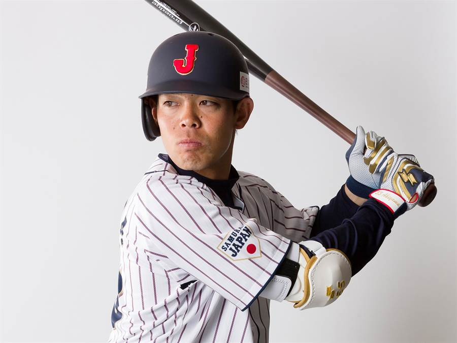 12強日本武士隊第一棒秋山翔吾傳出疑似骨折,可能退隊。(中央社資料照)