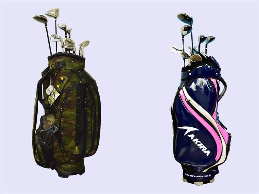 AKIRA GOLF高爾夫球桿組,由原本的1組10枝球桿增加為12枝。(台北分署提供)