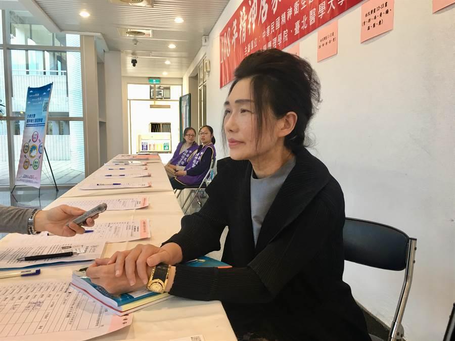 中華民國精神衛生護理學會理事長、台北醫學大學護理學院院長周桂如。(林周義攝)