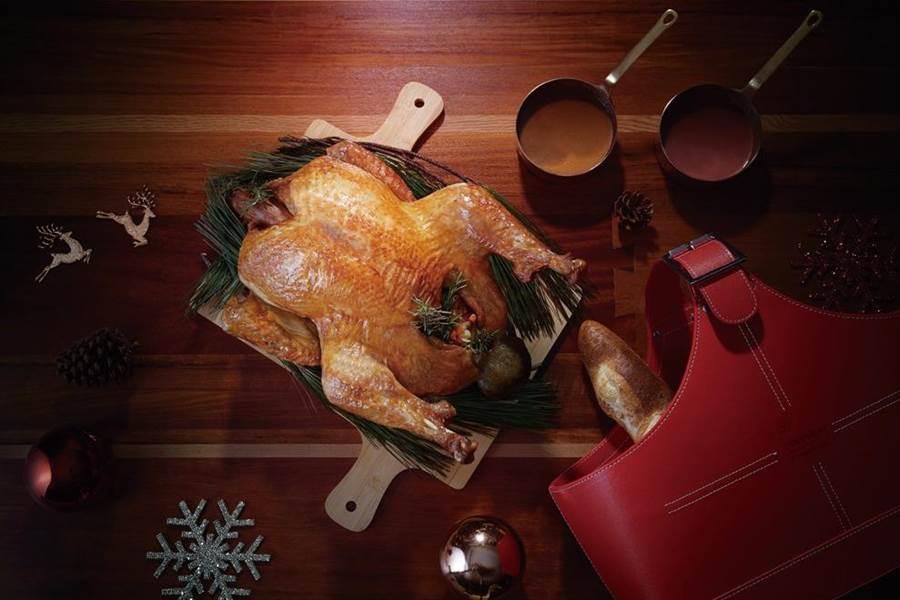 不同的火雞部位搭配喜來登推薦吃法,讓火雞更對味。(新竹喜來登提供/羅浚濱新竹傳真)