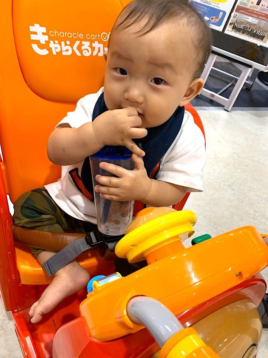 1歲的日本男嬰。(日本友人提供)