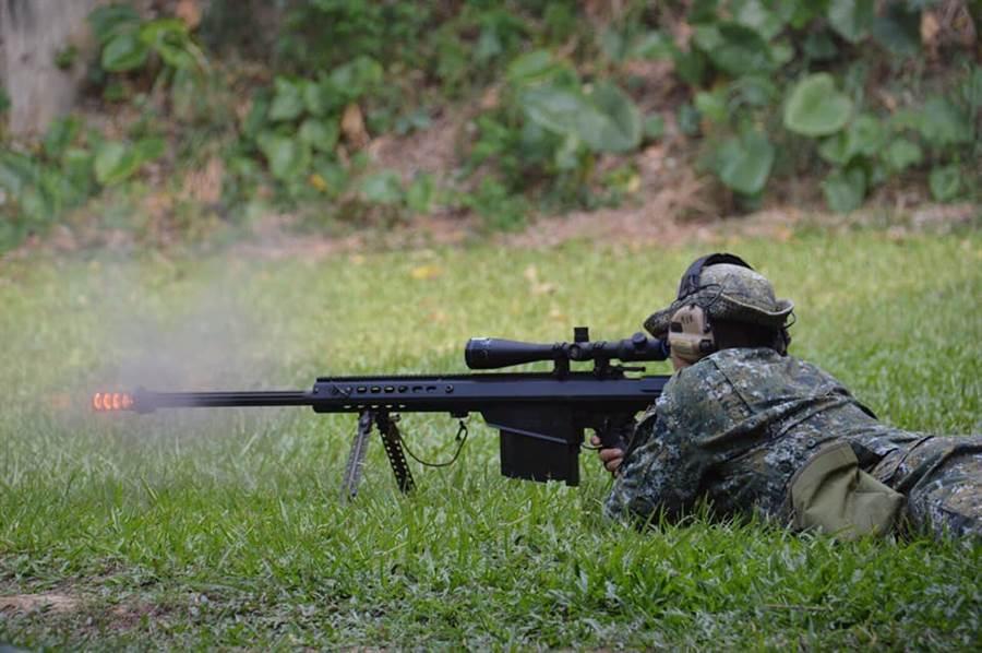 M107A1狙擊槍大多使用於反物資射擊,可以重擊敵軍一般及裝甲車輛。(特指部提供)
