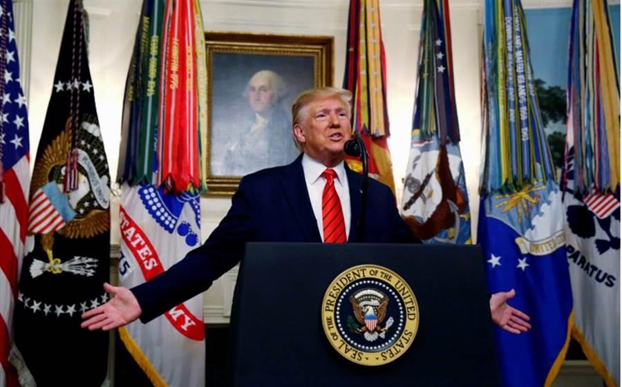 美國總統川普10月27日宣布擊斃恐怖組織「伊斯蘭國」首腦巴格達迪檔案照。(路透)