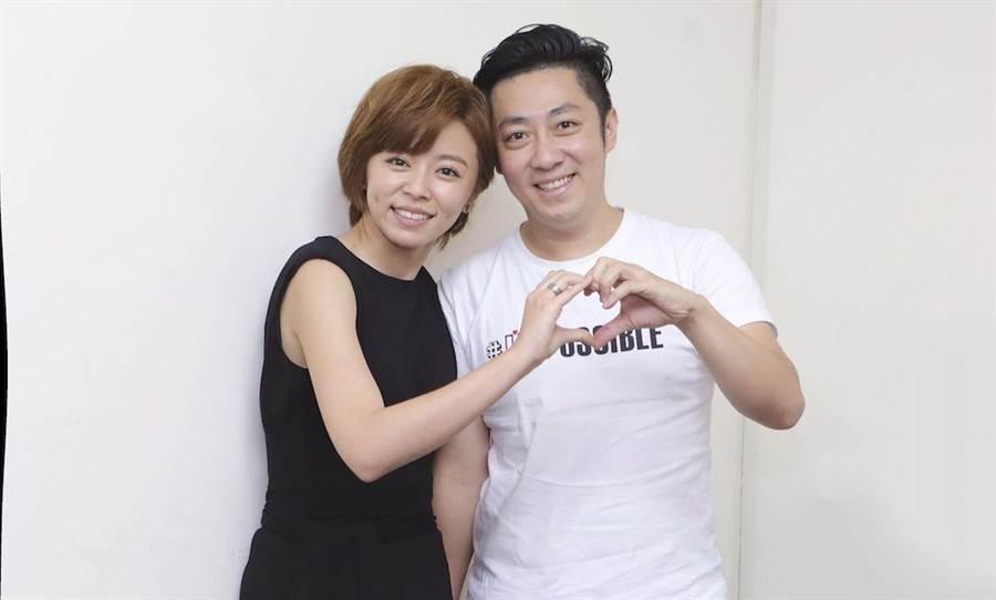 艾成(右)與王瞳的8年感情受考驗。資料照片
