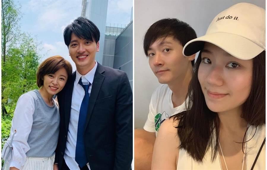 王瞳和馬俊麟(左圖)及馬俊麟的妻子梁敏婷打官司。取自臉書