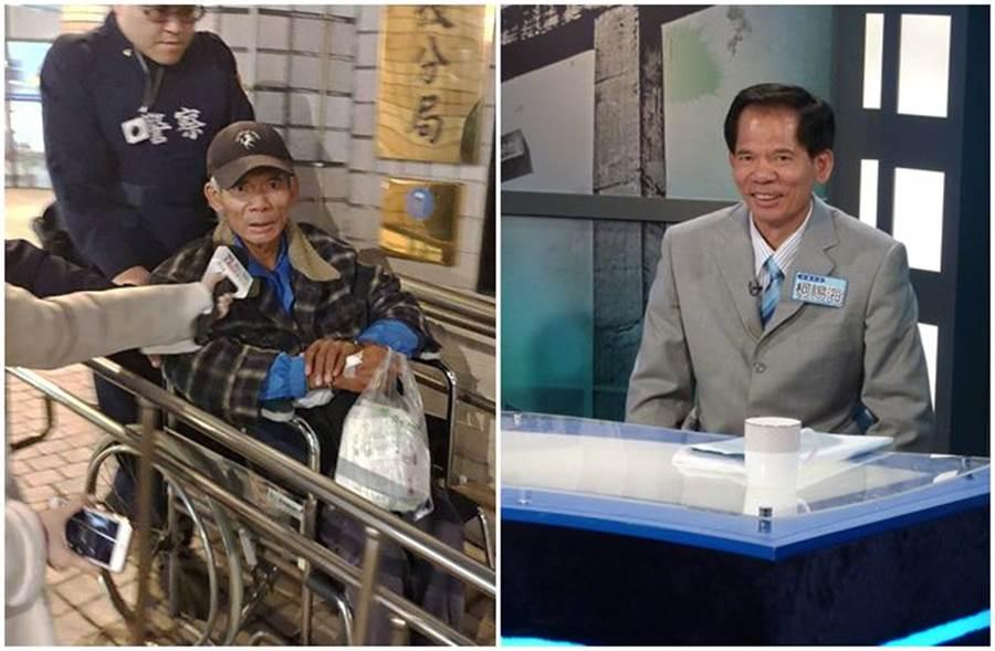 柯賜海去年在看診時遭警方逮捕(左),當時已看得出來狀況不好。(本報系資料照)