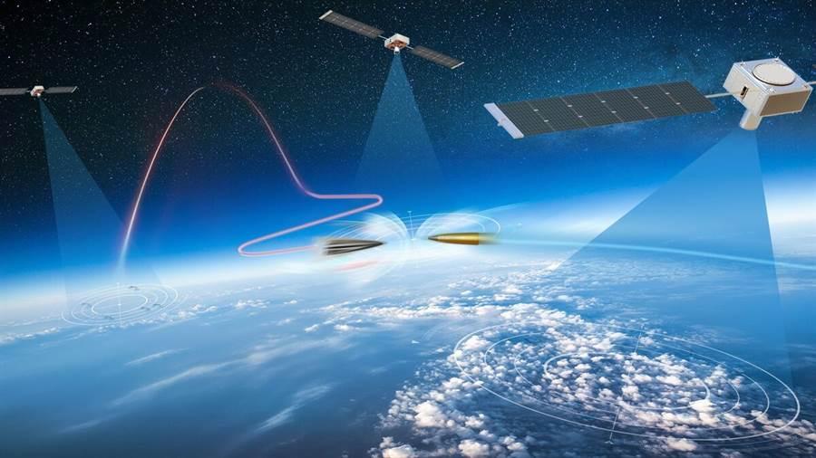 諾斯羅普格魯曼公司製作的太空高超音速導彈傳感器概念圖。(圖/Northrop Grumman)