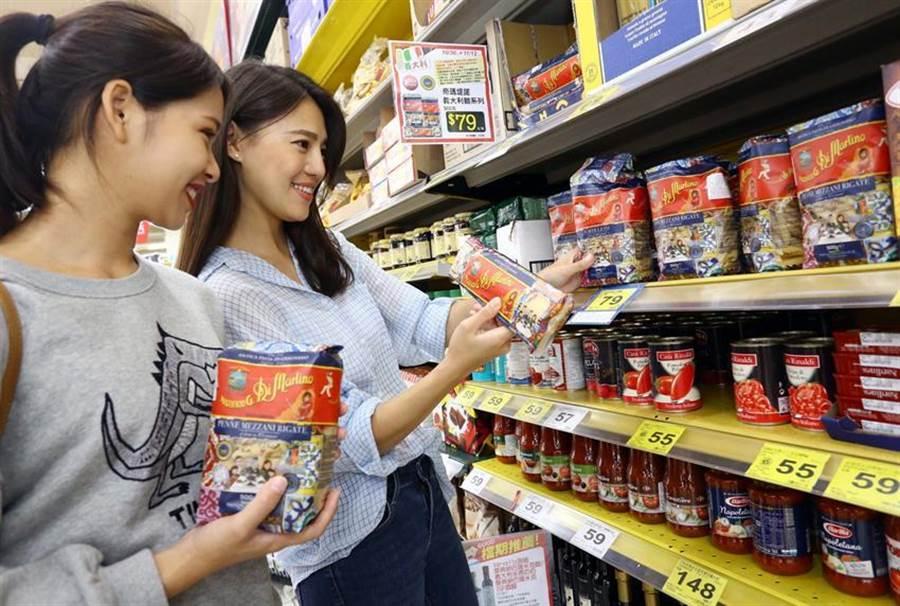 家樂福即日起至11/12,推出家樂福吃貨歐洲活動,精選上百款來自義大利、法國、德國、西班牙、英國、比利時等歐洲知名美食。(圖/業者提供)