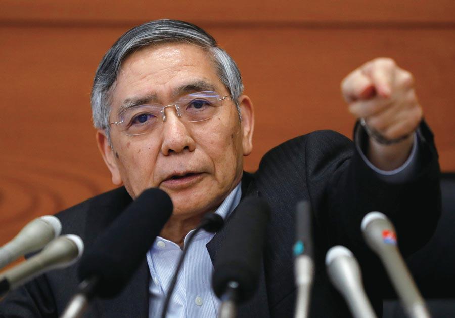 日銀總裁黑田東彥。圖/路透