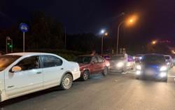 竹縣3車連環追撞 酒駕撞到毒品通緝犯