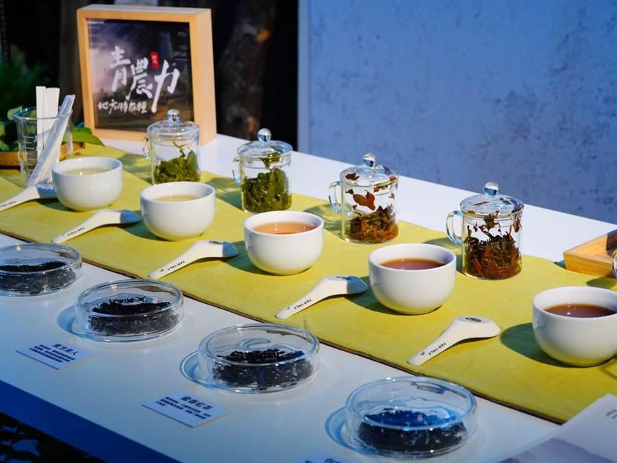 各種茶湯顏色。(新北市農業局提供/葉書宏新北傳真)