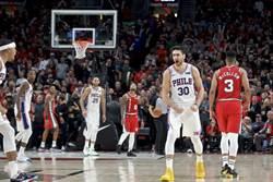 NBA》絕殺逆轉三分!七六人續保不敗