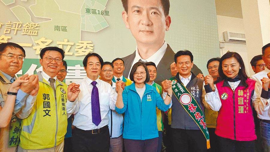 投票》台南同框拚場,韓朱尬蔡賴誰人氣高?