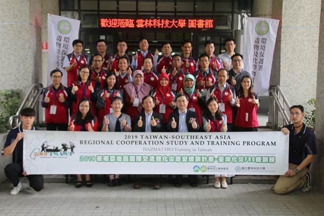 2019台灣國際化災FRO級國際班在雲林科技大學開訓。(雲科大提供/許素惠雲林傳真)