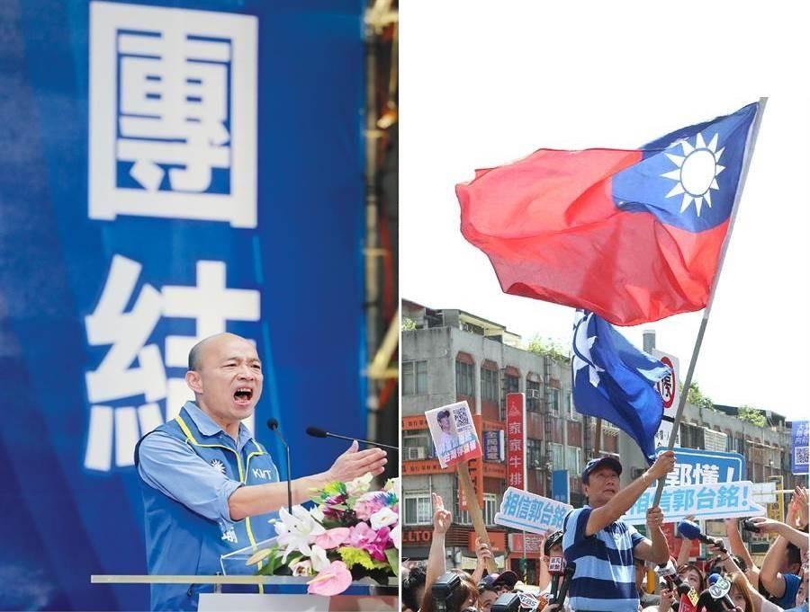 国民党2020总统提名人、高雄市长韩国瑜(左)、鸿海集团创办人郭台铭(右)。(图/合成图,本报资料照)