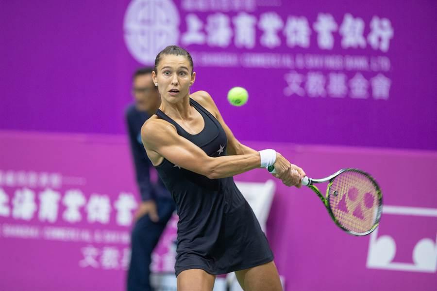 2014年台北海碩女網賽冠軍「俄羅斯甜心」蒂雅琴科。(海碩整合行銷提供/陳筱琳傳真)