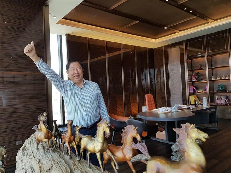 (京城建設董事長蔡天贊4日表示,京城集團今年底之前,將陸續有4個預售建案進場,總銷售金額達178億元,其中上市的京城建設個案約占74億元,成為未來3年入帳主力。圖/顏瑞田)