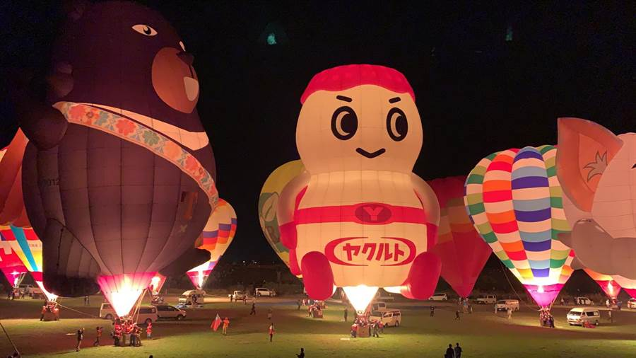 台東縣政府熱氣球團隊參加日本佐賀熱氣球嘉年華。(台東縣政府提供/莊哲權台東傳真)