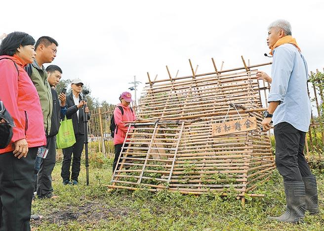 新竹市環保局4日展示今年完成結合雜草生態與管理、土壤改善與可食地景的示範區。(陳育賢攝)
