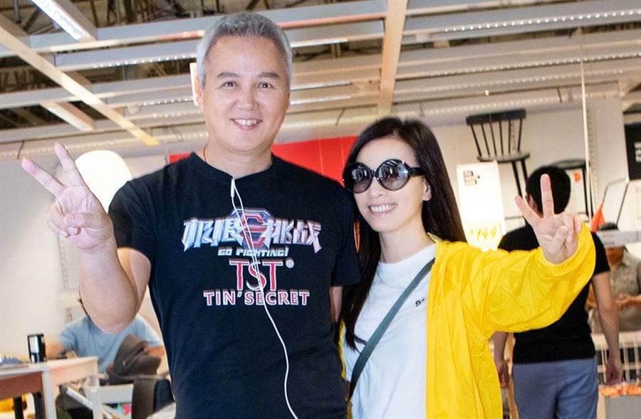 張庭和林瑞陽是演藝圈模範夫妻。(圖/翻攝自微博)