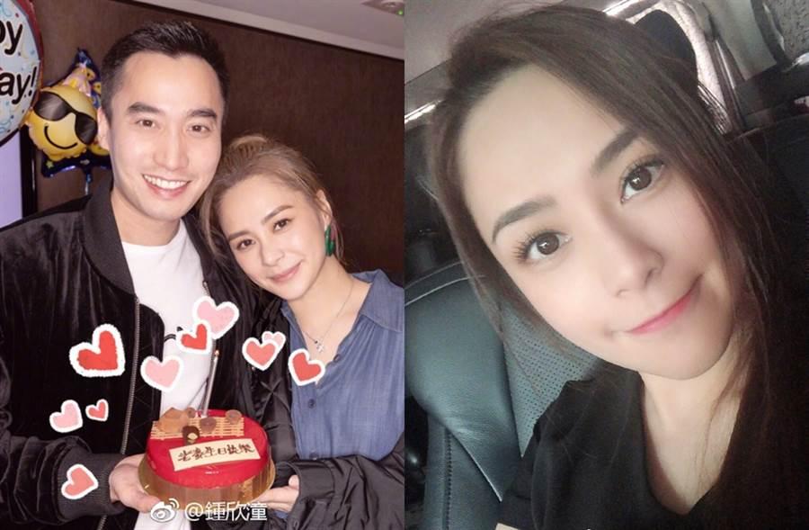 阿嬌和賴弘國結婚1年,生子計畫卡關。(圖/翻攝自鍾欣潼微博)