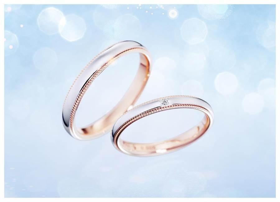 可自行挑選款式材質的「Anolyu」半訂製婚戒,是銀座白石的暢銷熱門商品。(GINZA DIAMOND SHIRAISHI提供)