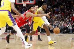 NBA》詹姆斯大三元 湖人逆襲公牛奪6連勝