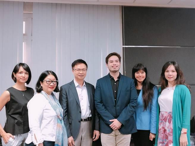 貿協董事長黃志芳(左三)、蘇比克灣副特首Mr. Renato(右三)及隨團台商合影