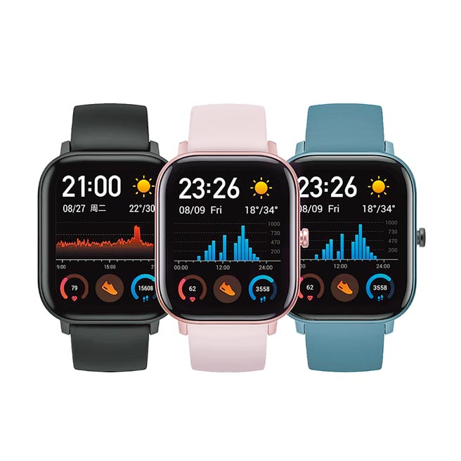 燦坤獨家首賣新品Amazfit GTS魅力版智慧手表,原價4395元,預購優惠價只要3895元。(燦坤提供)