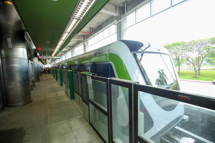台中捷運綠線目前正在試車,但沿線民眾反映噪音大,捷運工程處允諾全面設置隔音罩。(林欣儀攝)