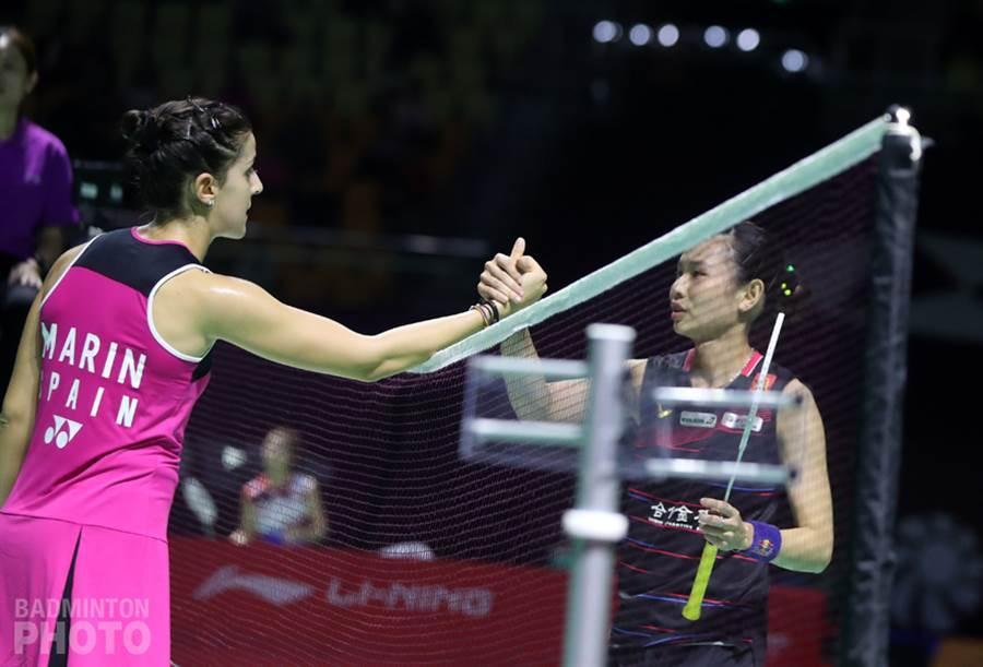 戴資穎(右)坦言女單競爭更激烈,每次比賽都感受到更大衝擊。(資料照/Badminton Photo提供,陳筱琳傳真)