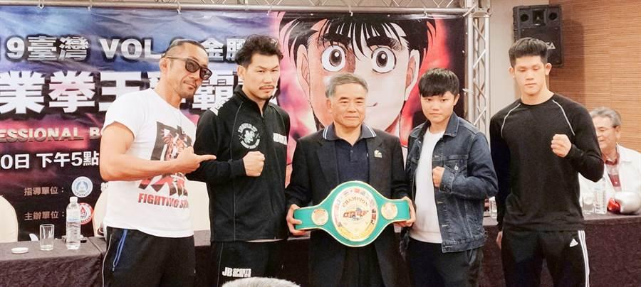 第一神拳台灣真實版、台灣職業拳王爭霸戰預定30日上演,屆時第一神拳作者森川讓次也將親自來台觀戰。(黃邱倫)