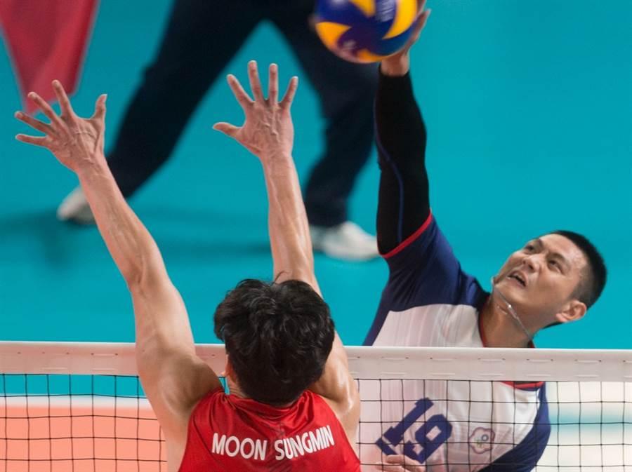 中華男排好手陳建禎現效力於日本聯盟的JT雷霆。(本報資料照)